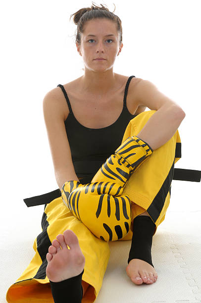 trained tiger - martial arts gerville stock pictures, royalty-free photos & images