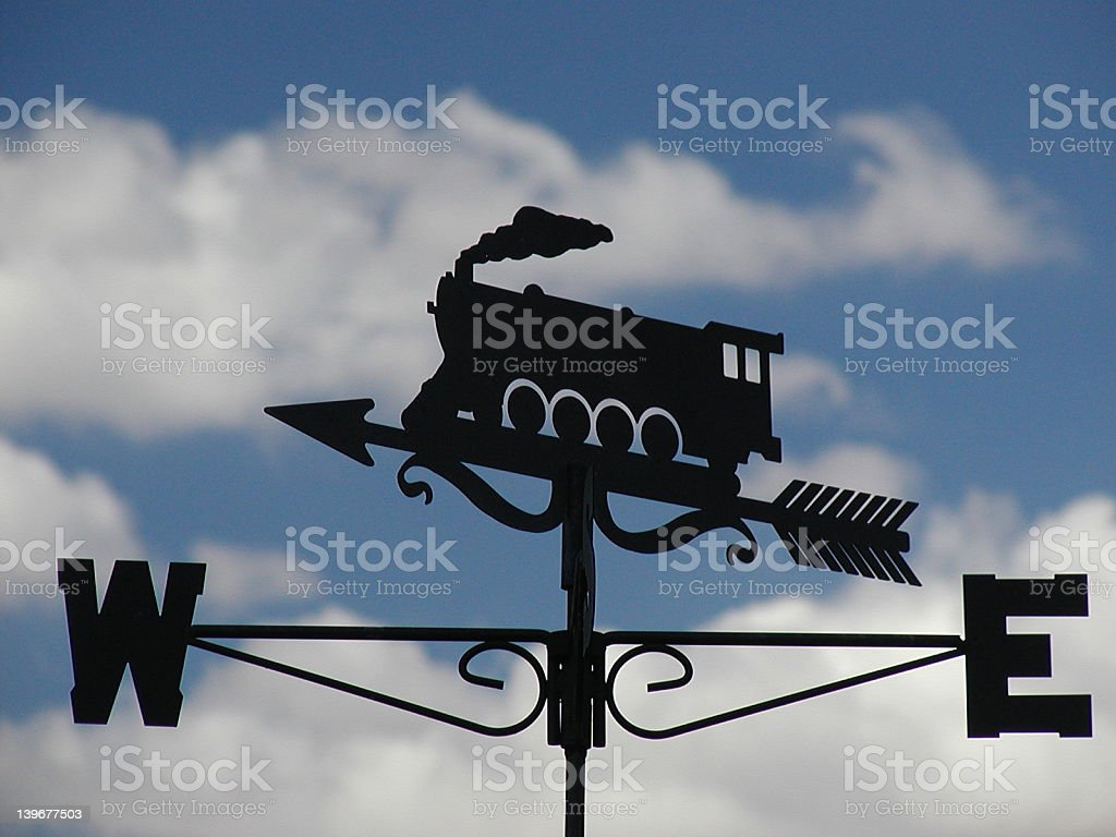 Trained weather observer royalty-free stock photo