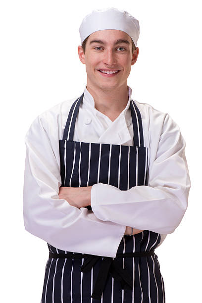 trainee chef stock photo