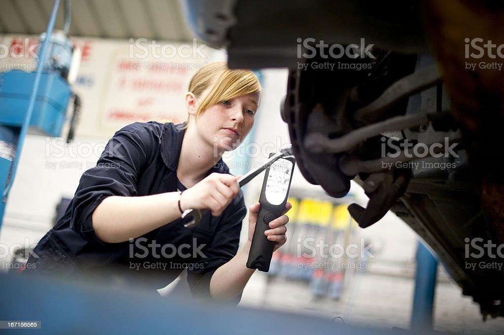 trainee mechanic stock photo