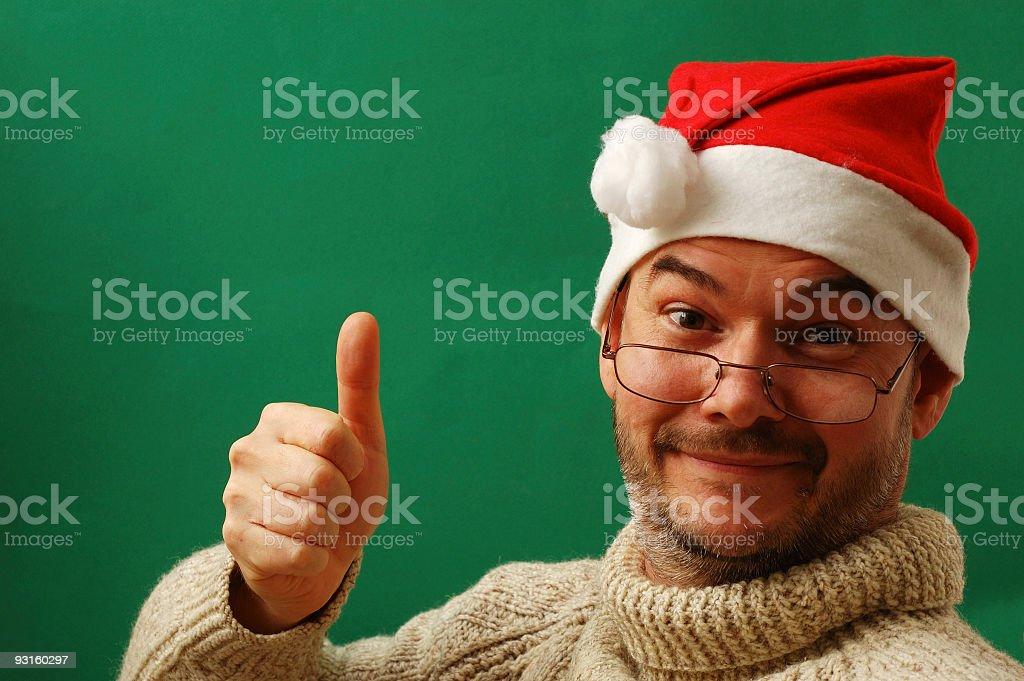 Trainee Santa royalty-free stock photo