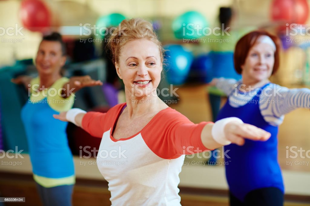Trainer exercising royalty-free stock photo