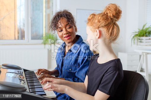 istock Trainer singing with student while playing piano 1151177603