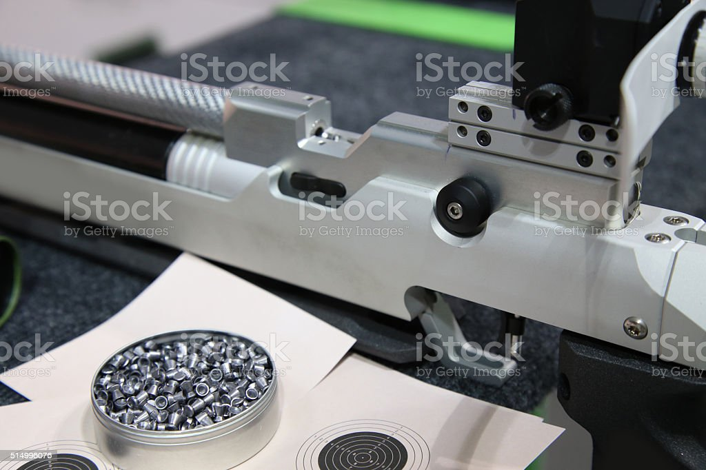Training and competition of air rifle stock photo