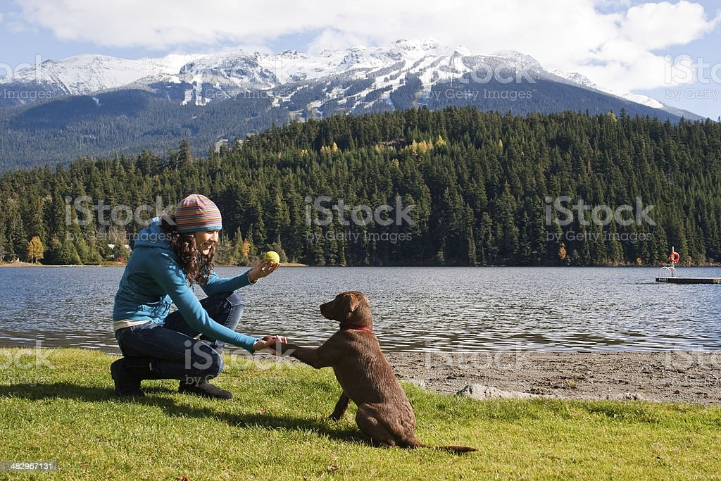 Training at the Park royalty-free stock photo