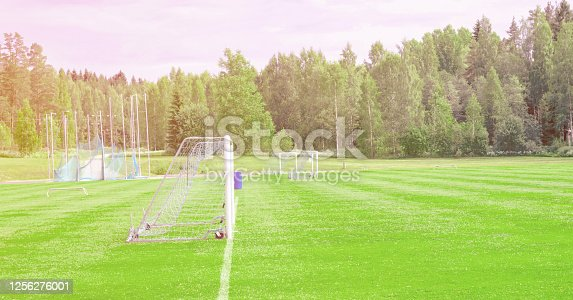 931661614 istock photo Training base, football fields outdoors 1256276001