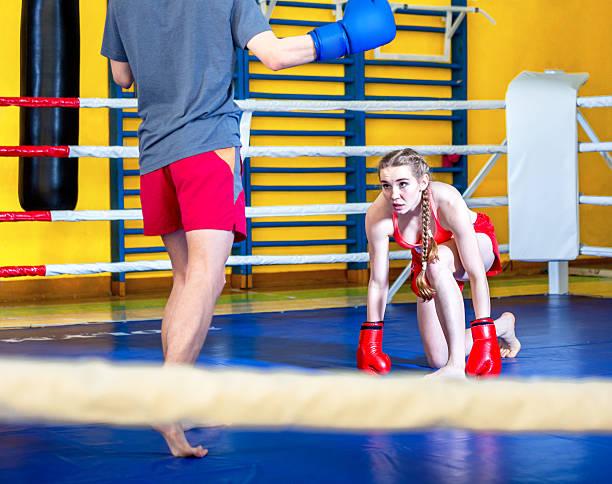 Training Boxing Match stock photo