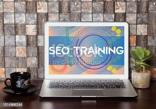 1045434476 istock photo SEO Training Concept on Laptop Screen 1014966244