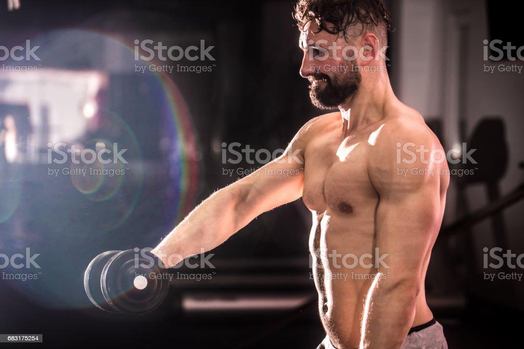 체육관에서 훈련을 교차 하는 훈련 royalty-free 스톡 사진