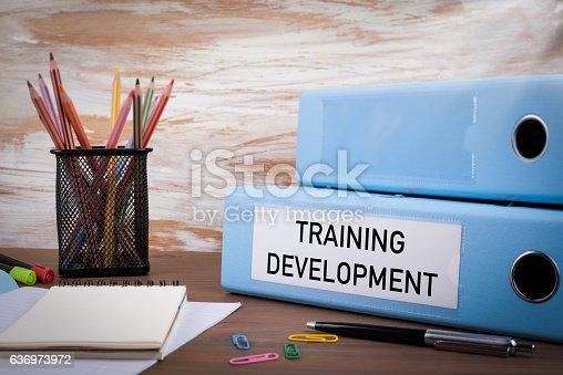 istock Training Development, Office Binder 636973972