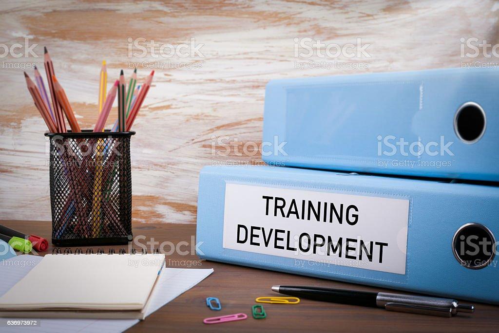 Training Development, Office Binder stock photo