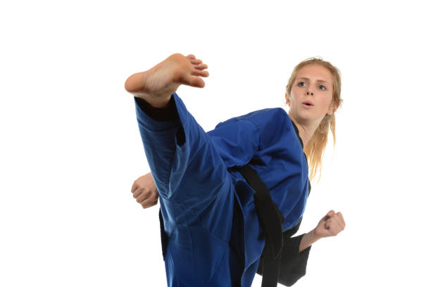 Training Fitness and Self-Defense stock photo