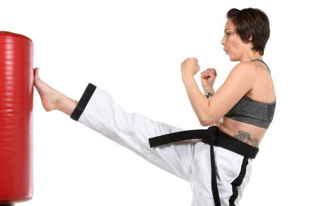 Training for Fitness and Defense stock photo