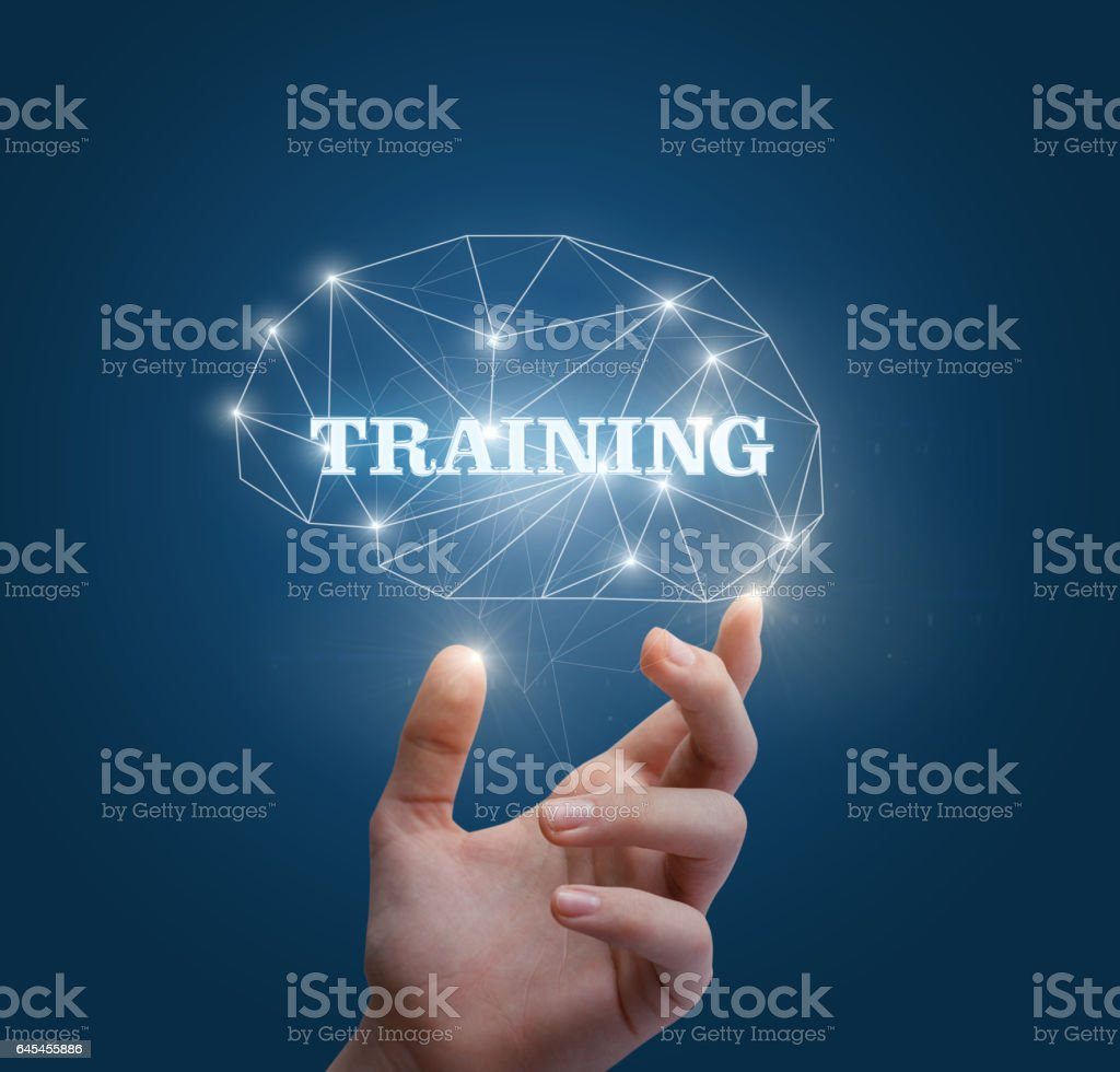 Training for the brain. stock photo