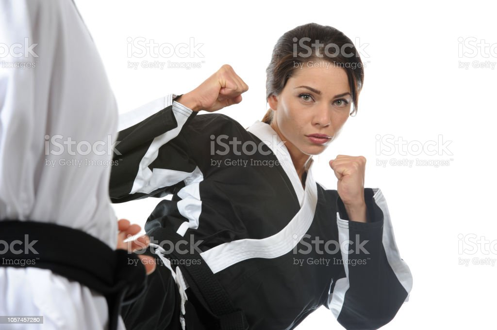 Training in the Martial Arts stock photo