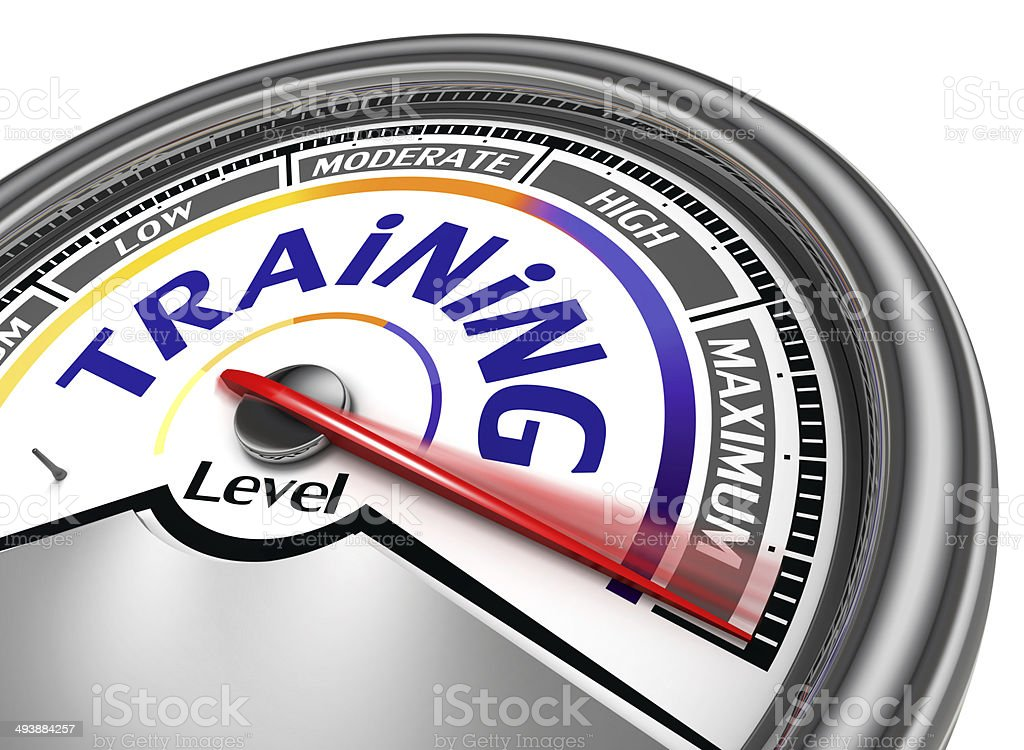 training level conceptual meter stock photo