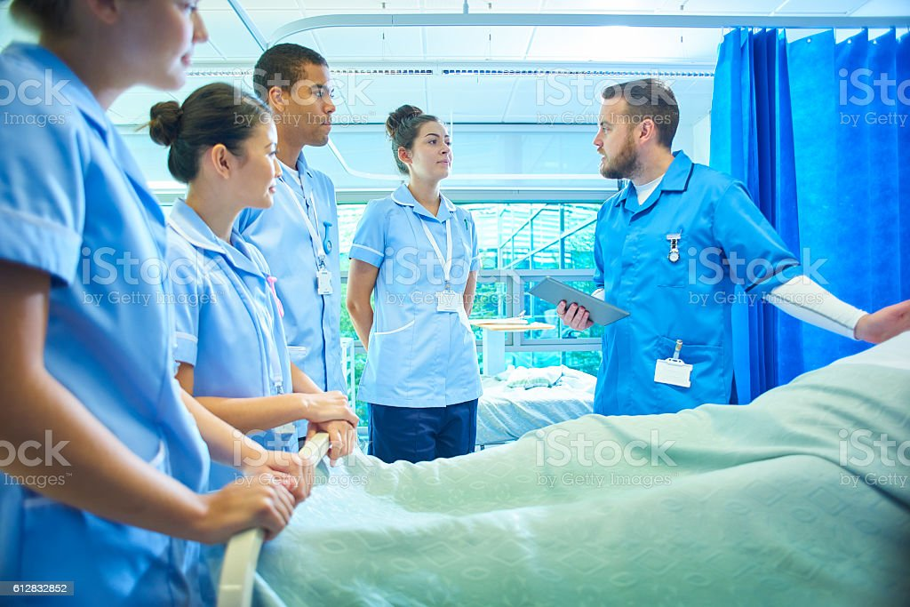 training nurses stock photo