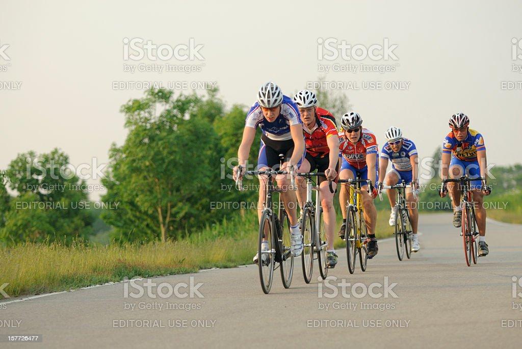 Training of male Dutch cyclists stock photo