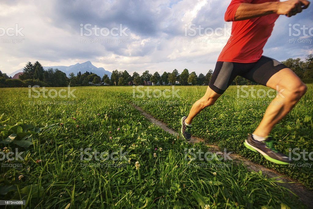 Training Outdoors royalty-free stock photo