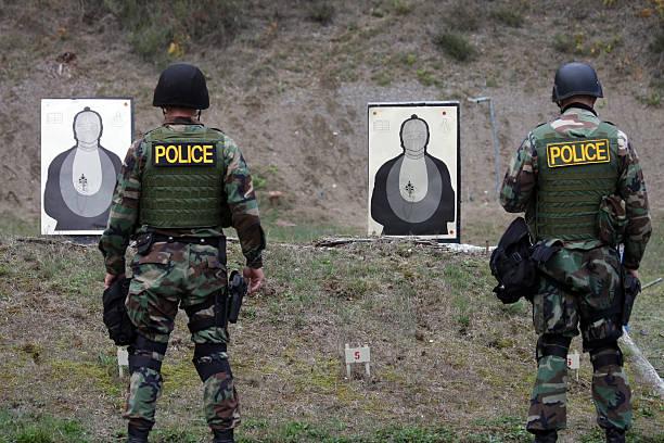 SWAT Training Targets stock photo