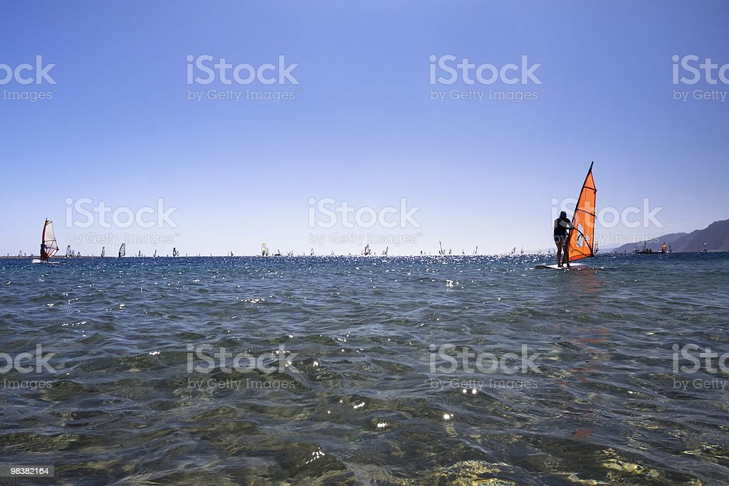 Training windsurfing. royalty-free stock photo