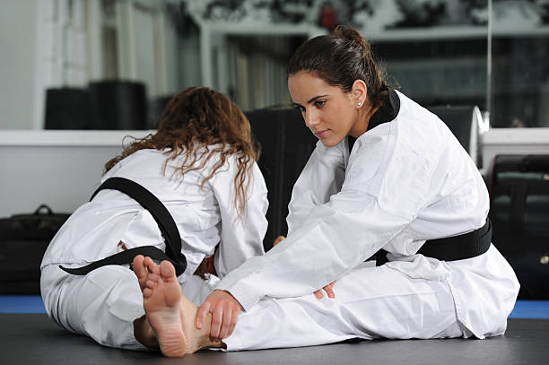 Training with a partner stock photo