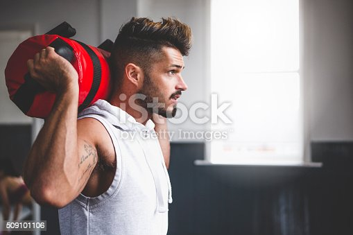 istock Training with a Powerbag 509101106