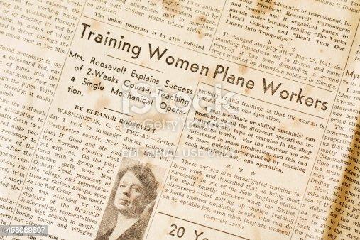 Fosston, USA - June 13, 2011:  An article written by Eleanor Roosevelt titled \