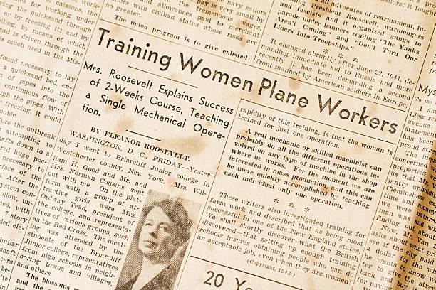 training women plane workers - eleanor roosevelt wwii - celebrities of age bildbanksfoton och bilder