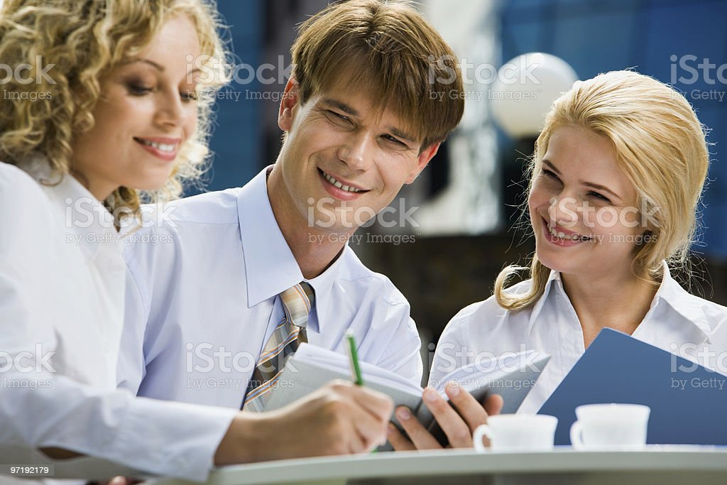 Training young  specialist royalty-free stock photo
