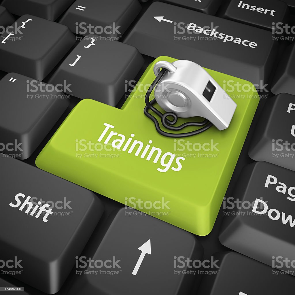 trainings enter key royalty-free stock photo