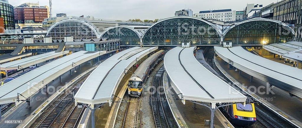 Trains at Paddington Station, London, England stock photo
