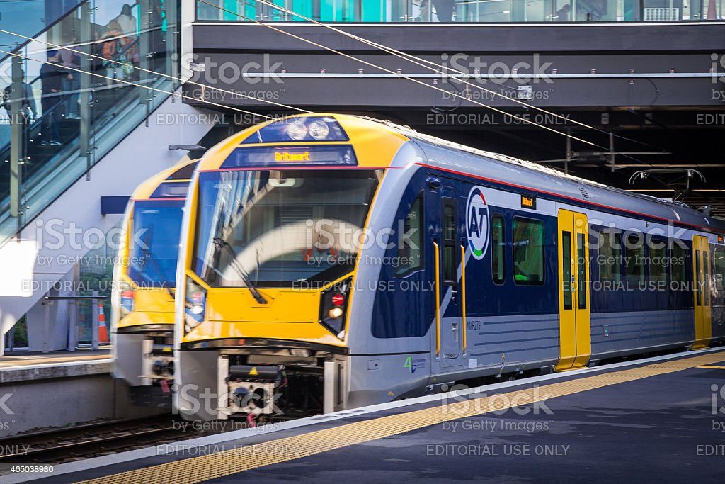 Trains, Auckland stock photo