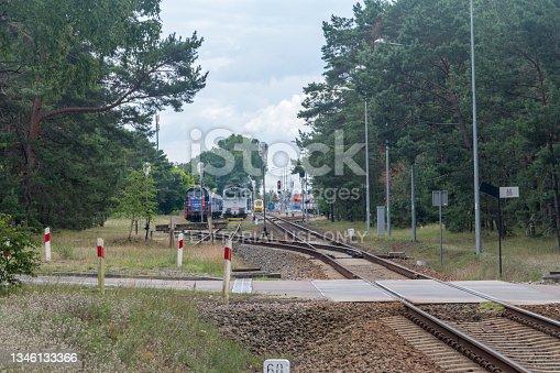 istock Trains on Hel train station. 1346133366