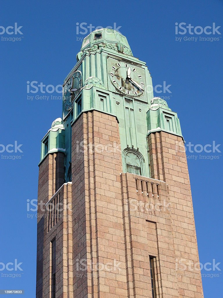 Trainstation tower royalty-free stock photo