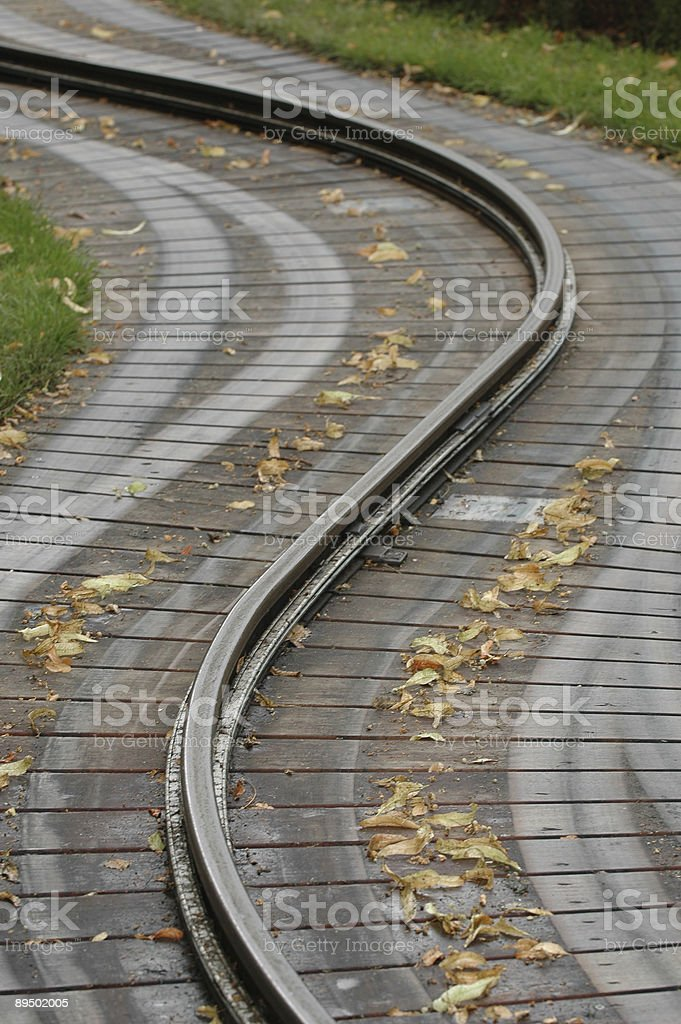 Traintrack royalty-free stock photo
