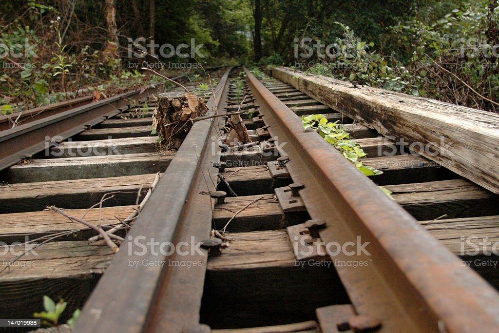 Traintracks to nowhere stock photo