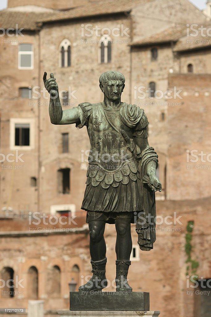 Trajan in Rome royalty-free stock photo