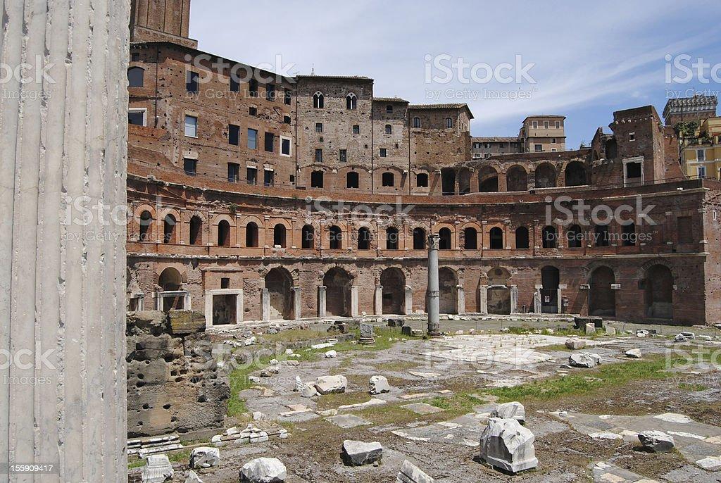 Trajan Market view. Rome. royalty-free stock photo