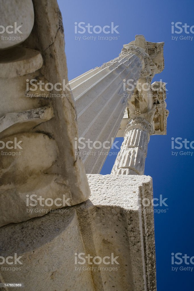Trajan Temple stock photo