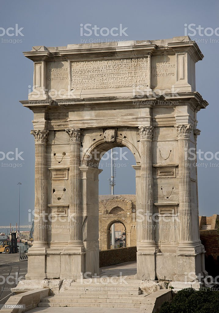 Trajan's Arch (from Walls) royalty-free stock photo