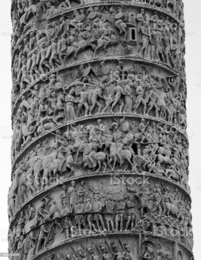 Trajan's Column Details stock photo
