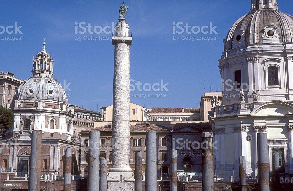 Trajan's Column, Rome, Italy royalty-free stock photo