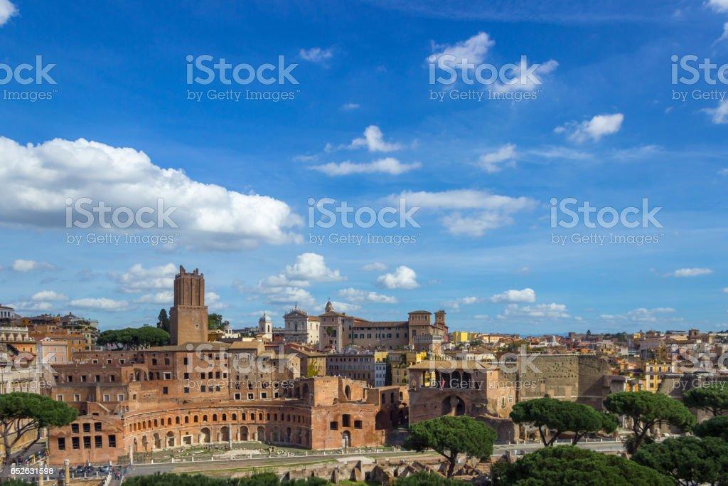 Trajan's Forum / Forum Traiani stock photo