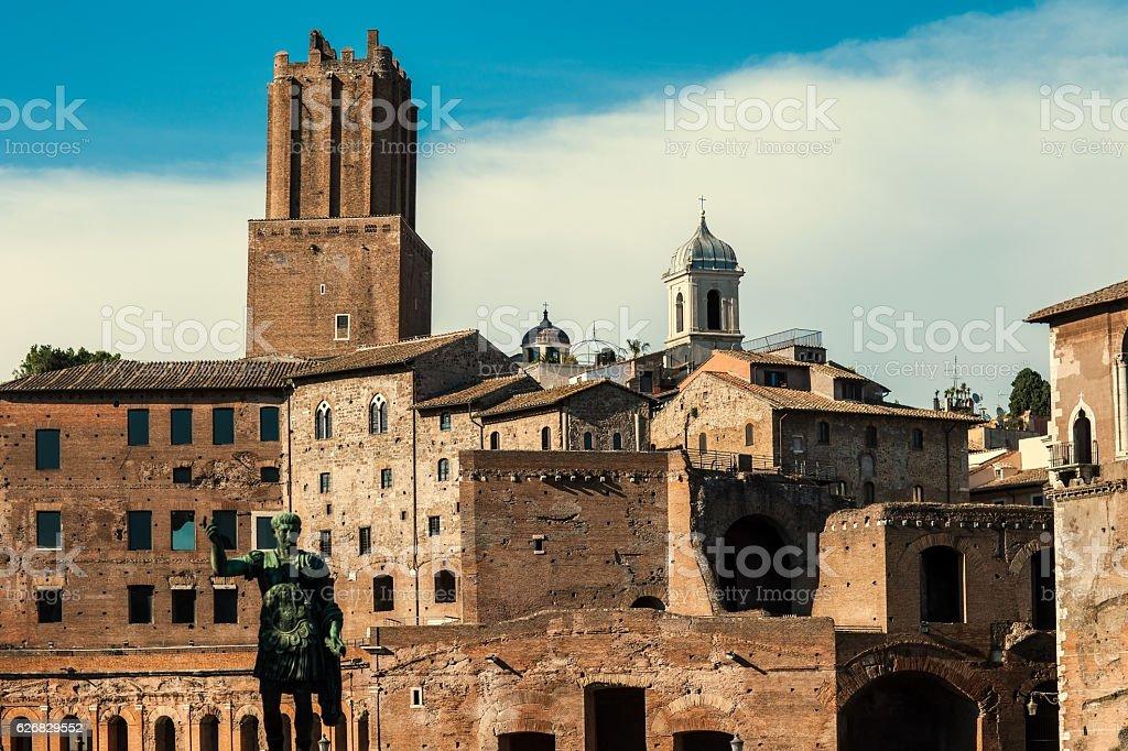 Trajan's Forum in Rome, Italy stock photo
