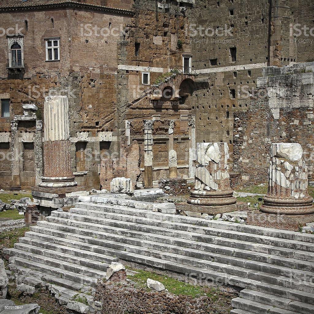 Trajan's Forum stock photo