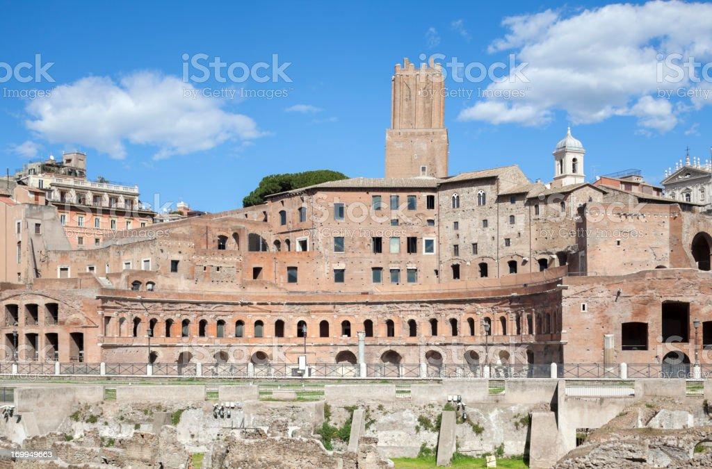Trajan's Forum - Rome Italy stock photo