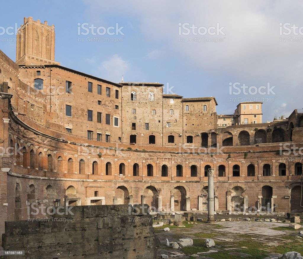 Trajan's Forum, Rome Italy stock photo