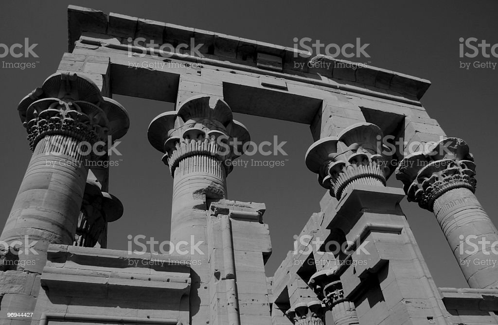 Trajan's Kiosk within the Temple of Isis, Philae,  Egypt royalty-free stock photo