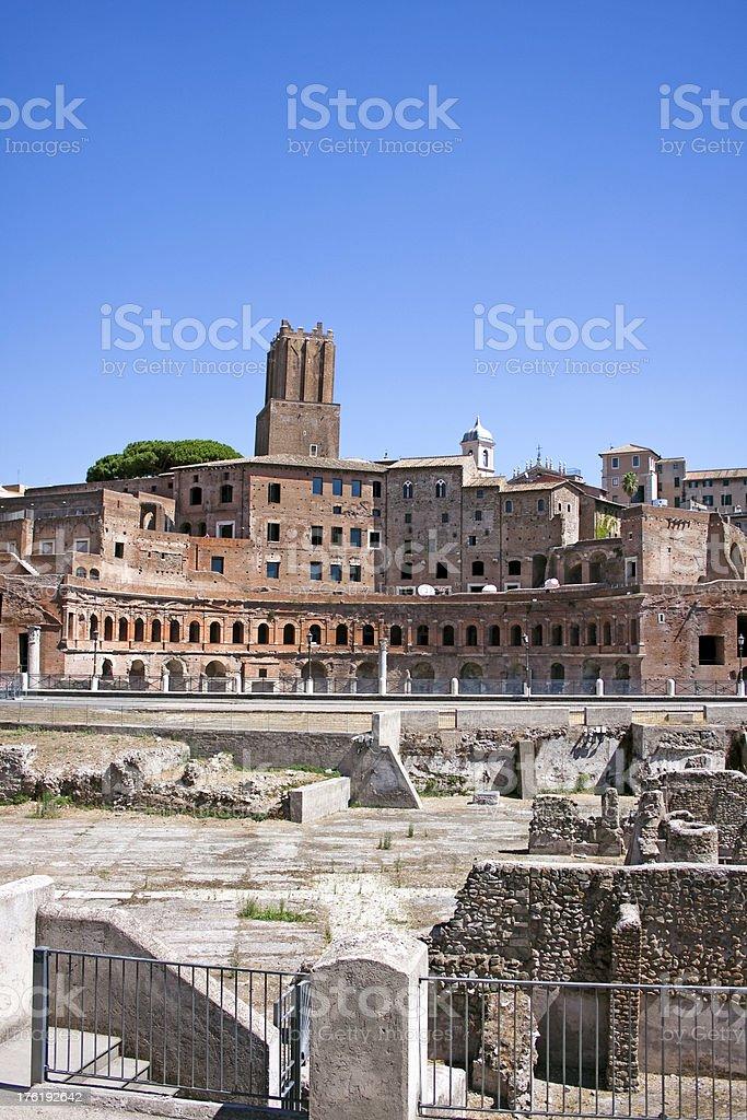 Trajan's Market, Ancient Roman architecture. royalty-free stock photo